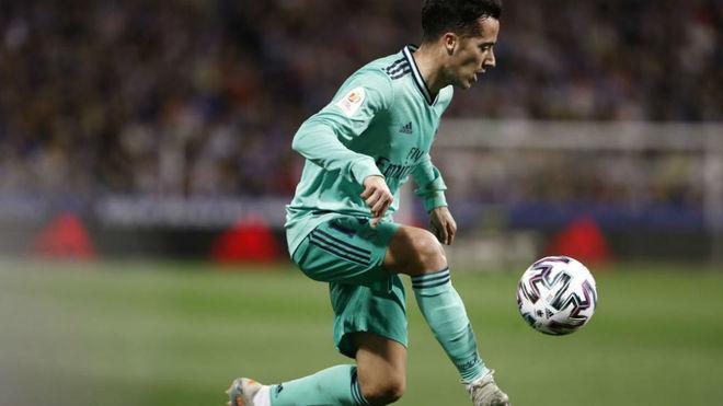 Lucas, en el partido de Copa de La Romareda