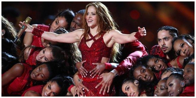Shakira en el show del medio tiempo.