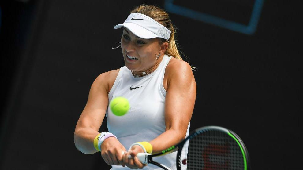 Paula Badosa, durante el pasado Open de Australia