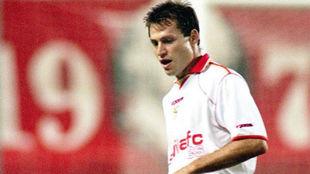 José Miguel Prieto, jugador de Futbol de España, defensa del...