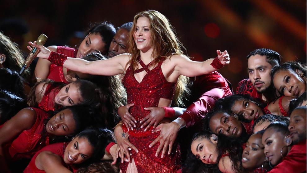 Shakira conquistó el público en el show de medio tiempo del Super...