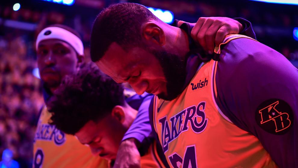 LeBron James y los Lakers lamentan la muerte de Kobe Bryant.