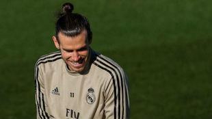 Bale, en una reciente sesión en Valdebebas