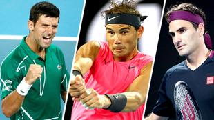 Los tres grandes tenistas de la época buscan ser el mejor de la...