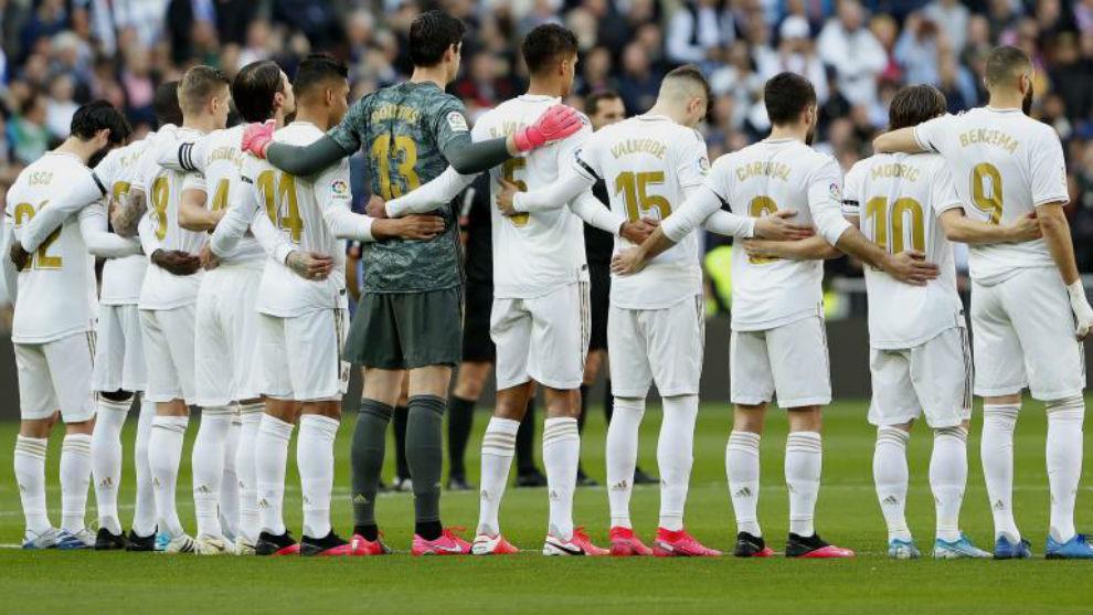 El once del Madrid, en el minuto de silencio por Kobe Bryant en el...