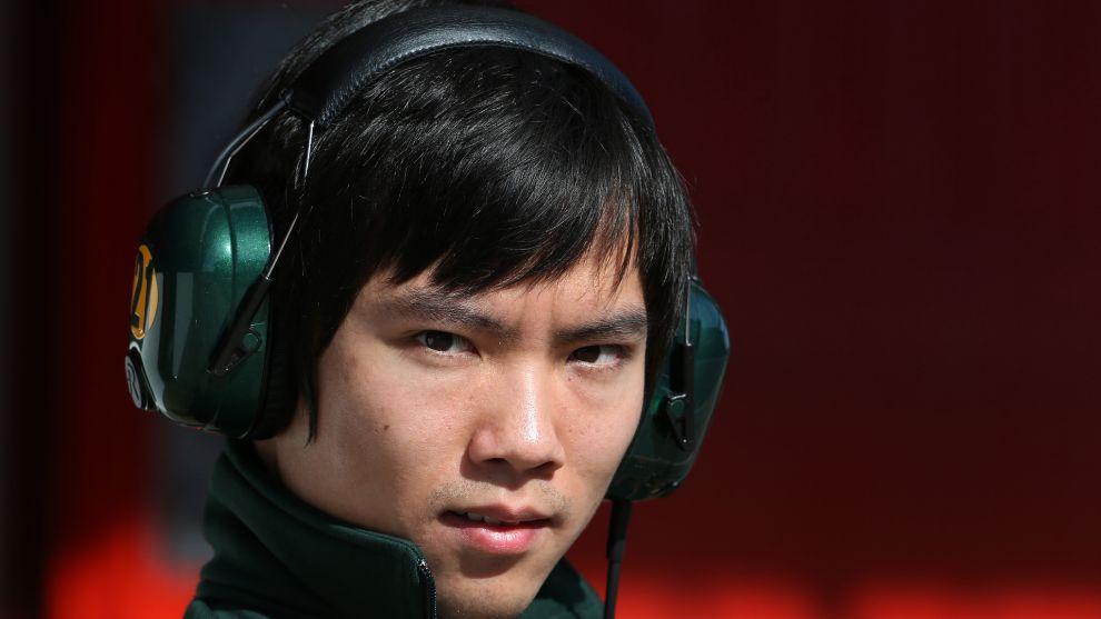 Ma Qing Hua, con el equipo Caterham de F1 en 2013.
