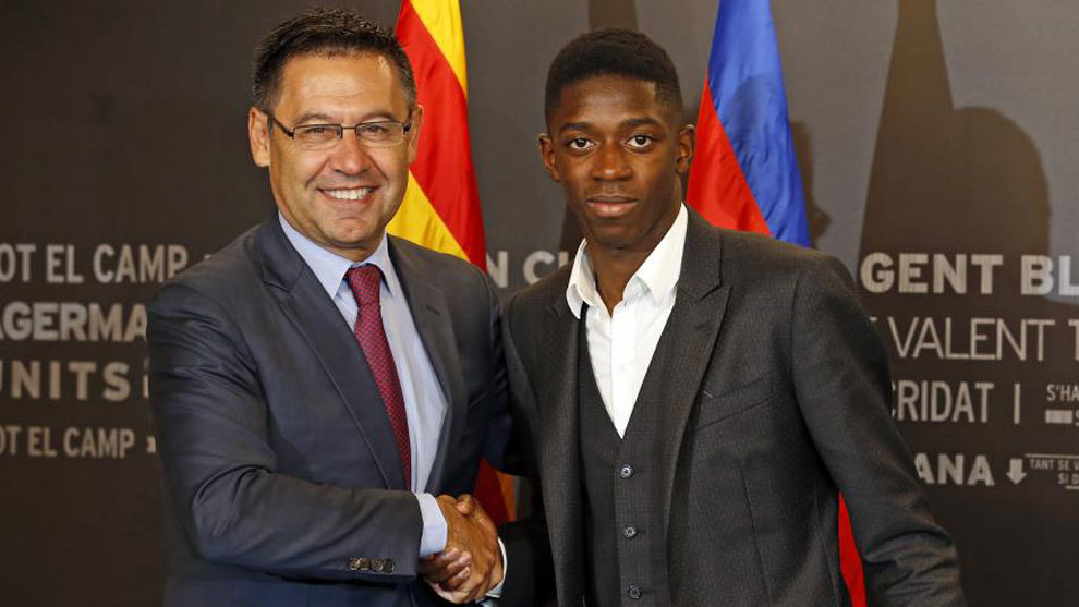 Barcelona forward Ousmane Dembele suffers injury setback