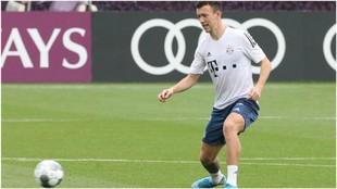 Perisic, durante un entrenamiento con el Bayern.