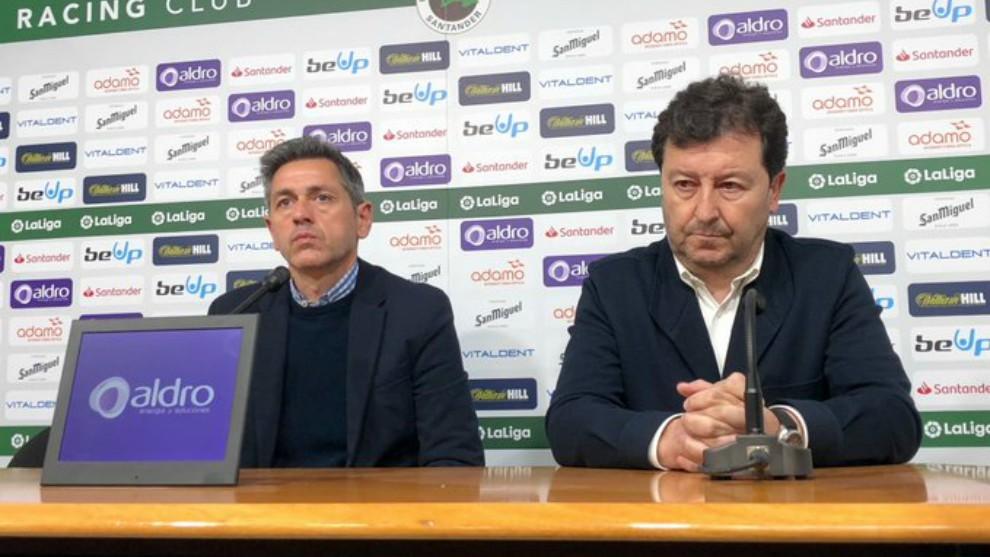 Víctor Alonso y Chuti Molina, durante la rueda de prensa