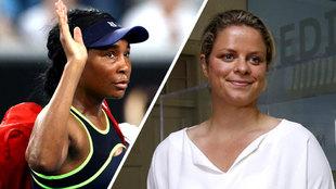 Venus Williams y Kim Clijsters