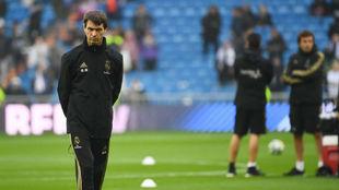 Grégory Dupont, en el Bernabéu antes del partido de Liga frente al...
