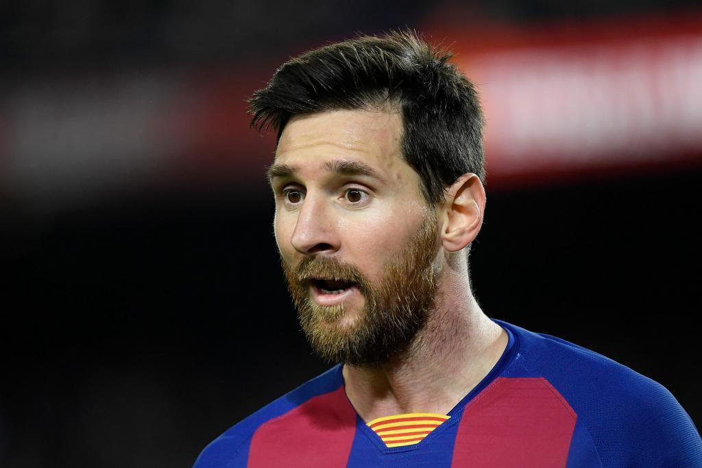 Messi, en el partido frente al Levante.