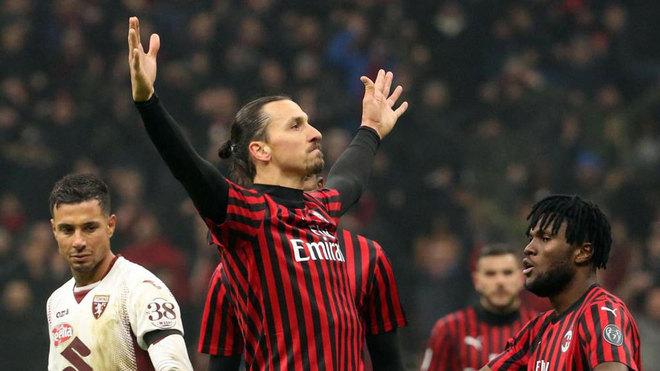 Ibrahimovic celebra su gol ante el Torino.