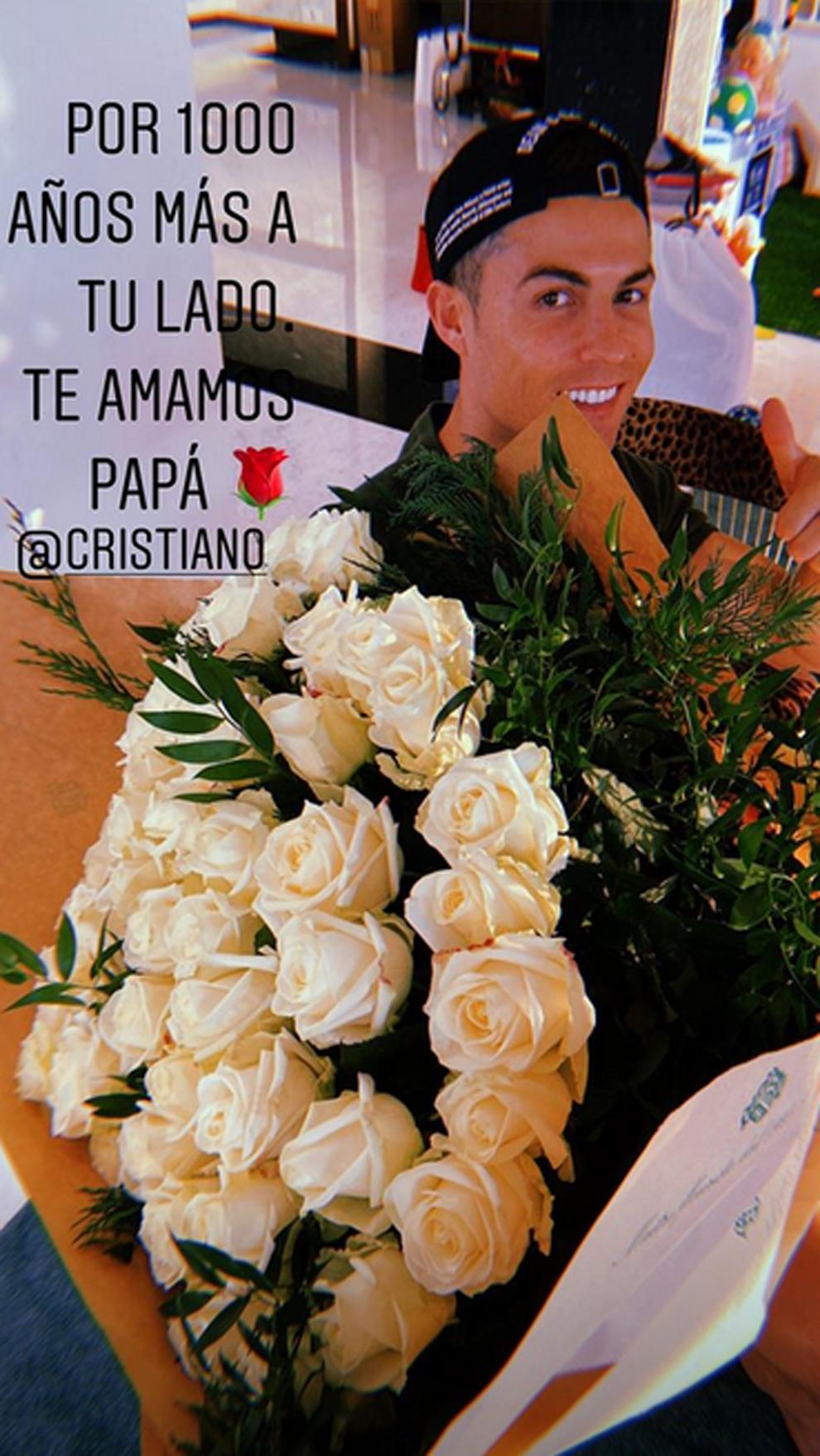 Georgina Rodríguez felicita a Cristiano Ronaldo por su 35 cumpleaños