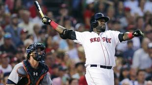 Ortiz, en un juego con los Red Sox.