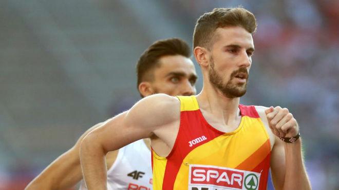 Álvaro de Arriba, en las semifinales de los 800 metros del Europeo de...