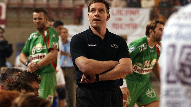 Alfred Gislasson, en su etapa como entrenador del Magdeburg /