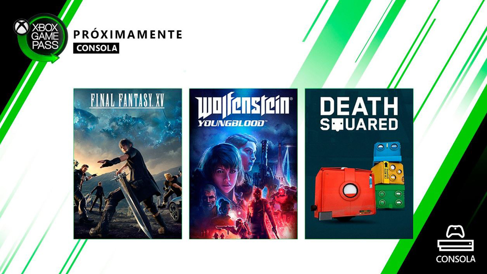 Final Fantasy XV y Wolfenstein: Youngblood, disponibles en Game Pass.
