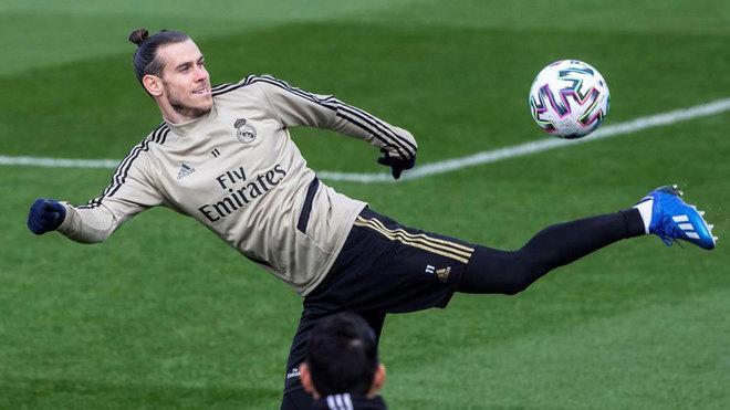 Gareth Bale, durante un entrenamiento