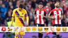 Messi, en el partido contra el Athletic