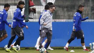Fernando Vázquez, en un entrenamiento.