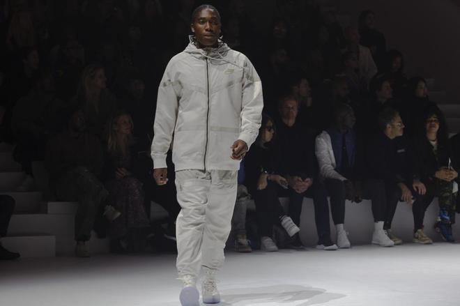 Caster Semanya, durante la presentción de la nueva ropa deportiva de...