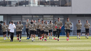 Imagen del entrenamiento del Real Madrid