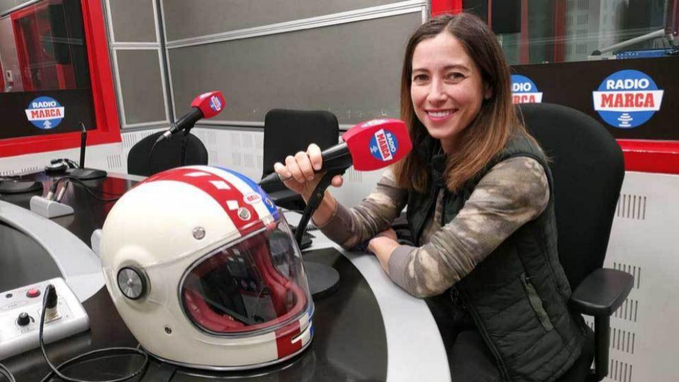 Alicia Sornosa en los estudios de Radio MARCA