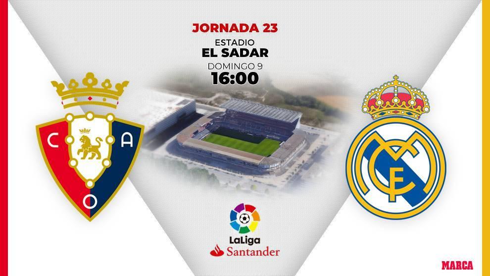 Osasuna - Real Madrid: horario y dónde ver por television el partido...