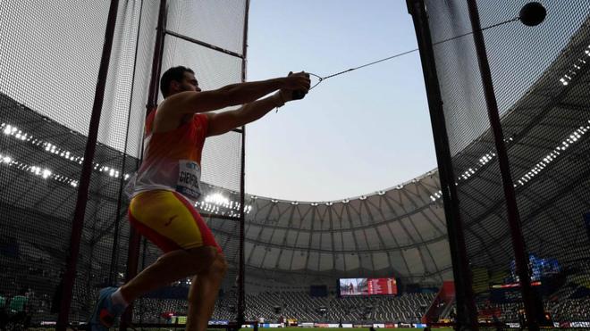 Javier Cienfuegos en la calificación del Mundial de Doha.