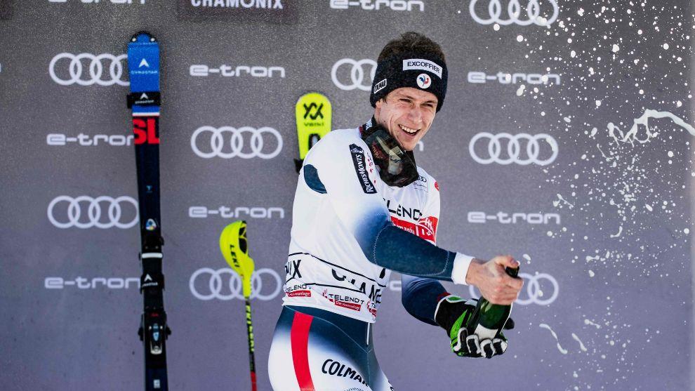 Tercera victoria de la temporada para Clément Noël, hoy en el slalom...
