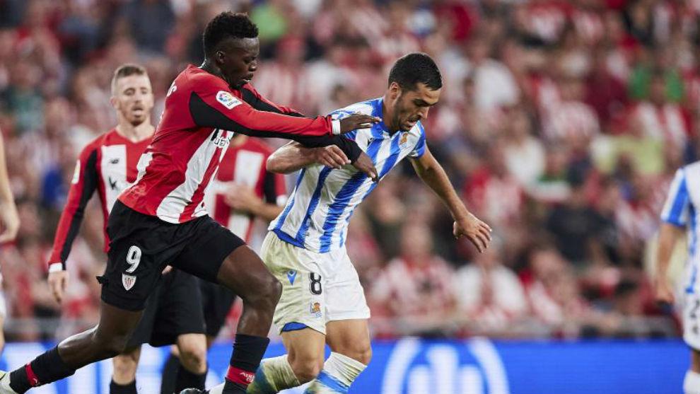 Imagen del Athletic-Real Sociedad de la priemra vuelta.