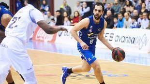 Vitor Benite, en un momento del encuentro ante el MoraBanc Andorra.
