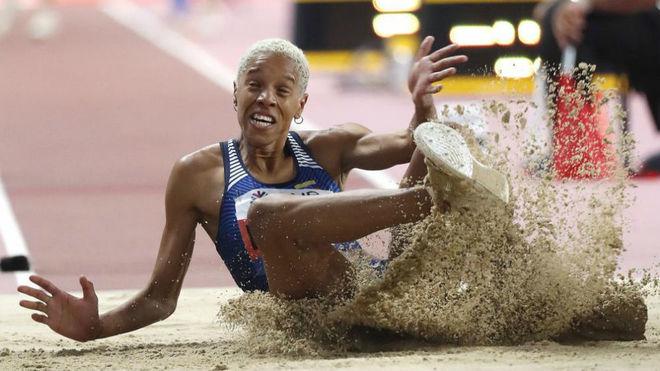 Yulimar Rojas en el Mundial de Doha.