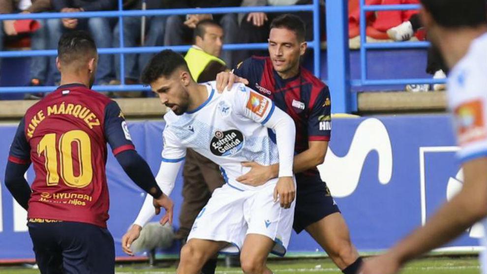 Peru, durante el partido del Deportivo en el Francisco de la Hera