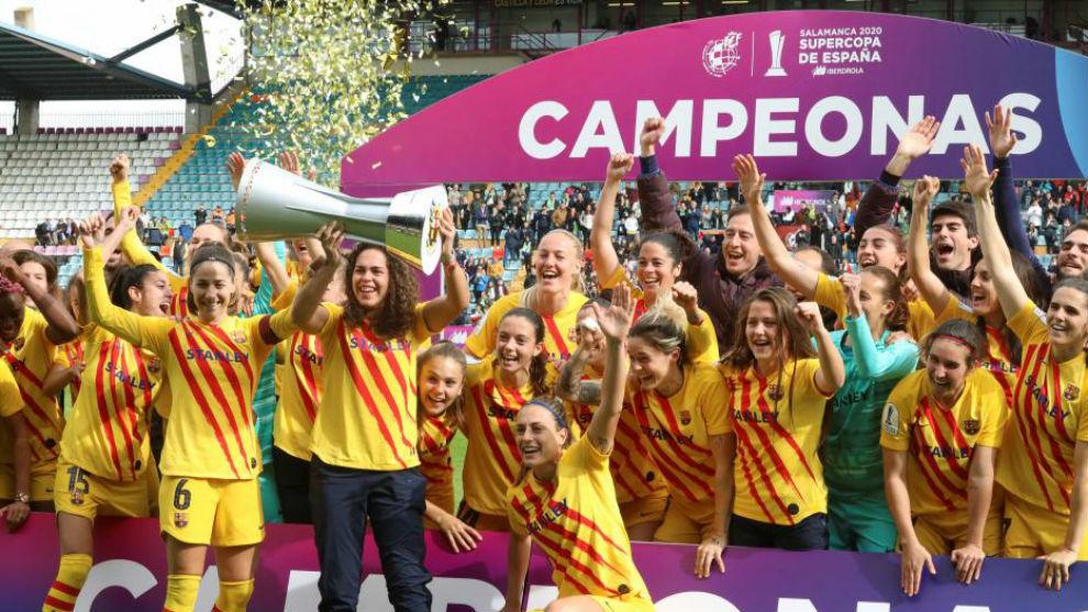 Las jugadoras del Barcelona femenino