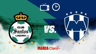 Santos vs Monterrey: Horario y dónde ver en vivo.