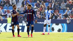 Rochina celebra su último gol en el Ciutat.