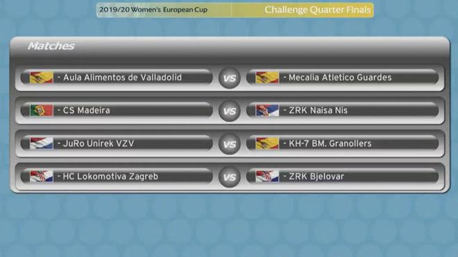 Los enfrentamientos de cuartos de final de la Copa Challenge /