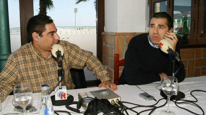 Antonio J. Merchán y Sergio Scariolo durante una entrevista en 2005.