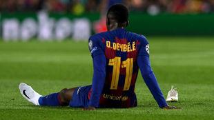 Ousmane Dembélé, lesionado.