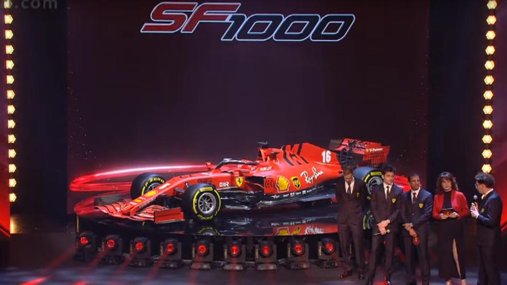 Así luce el SF1000 de Ferrari