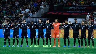 La selección mexicana previo al partido ante Argentina en septiembre...