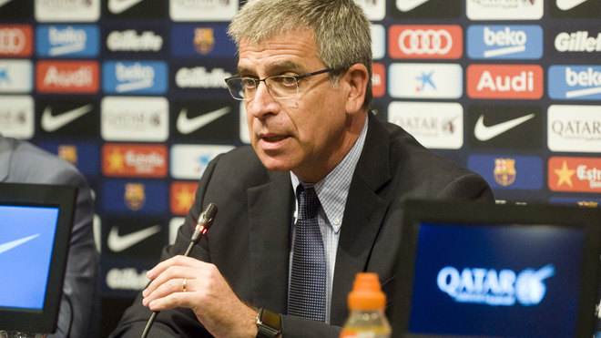 Jordi Mestre, en su etapa como directivo culé.
