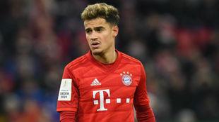Coutinho en una imagen de esta temporada con el Bayern.