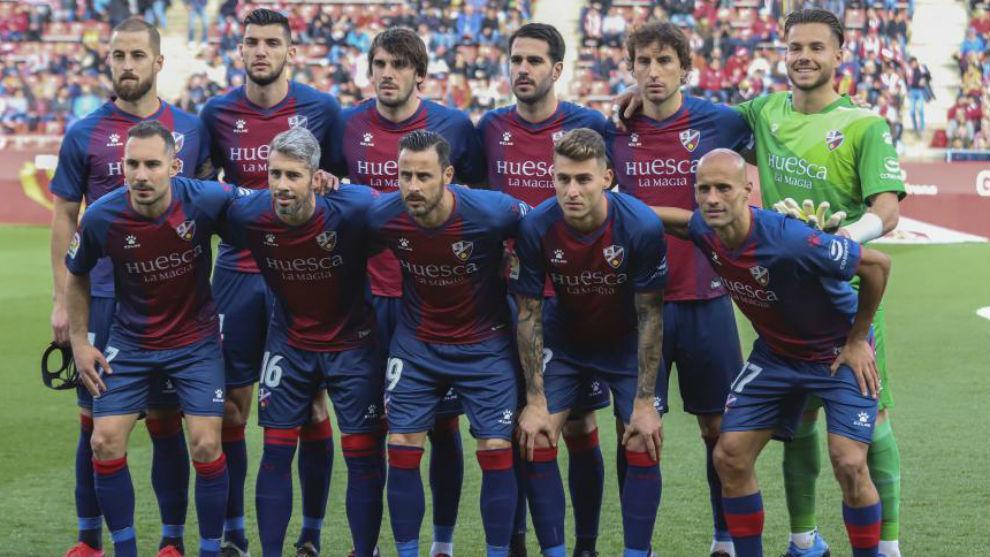 Once titular del Huesca en Montilivi, donde cayó en el últimos...