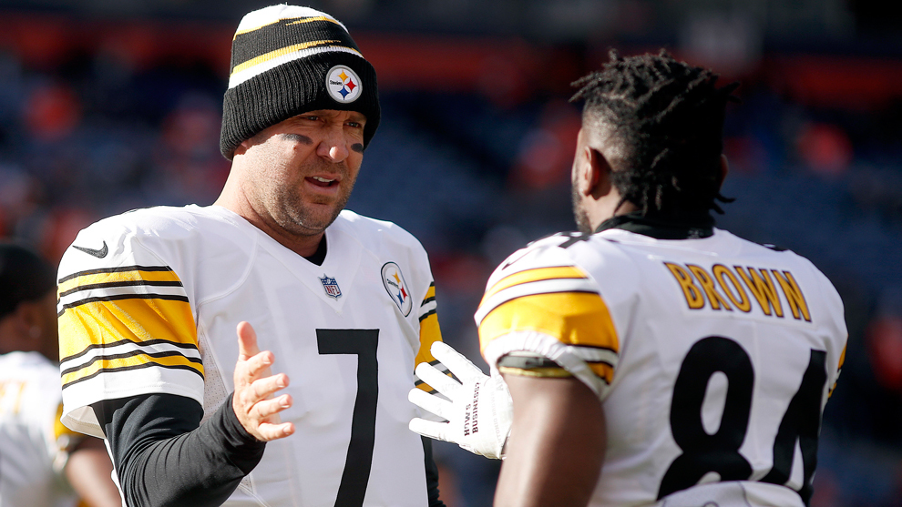 Roethlisberger y Brown en el 2018