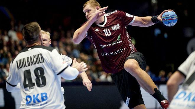 Kristopans, en un partido con Letonia en el pasado Europeo /