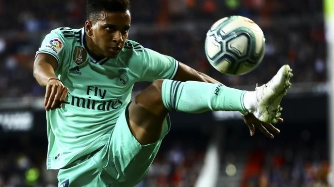 Rodrygo, durante el Valencia-Real Madrid