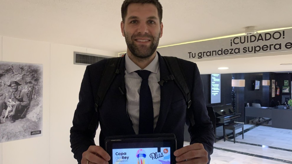 Felipe Reyes, con la guía de la Copa del Rey de MARCA Plus.